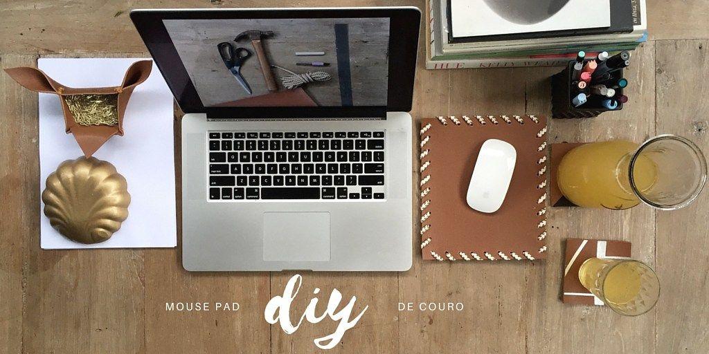 DIY - Mouse pad de couro