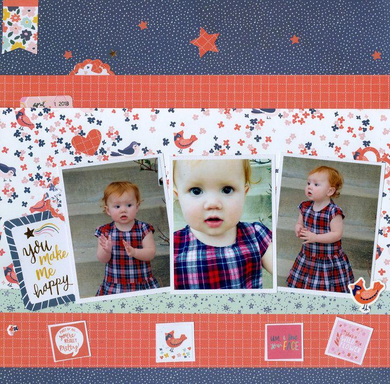 Our sweet emmalee pg 1 of 2 scrapbook for Tablero del deco del sitio del bebe