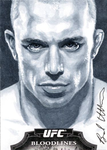 Georges St.Pierre Topps sketch card by ~therealbradu on deviantART