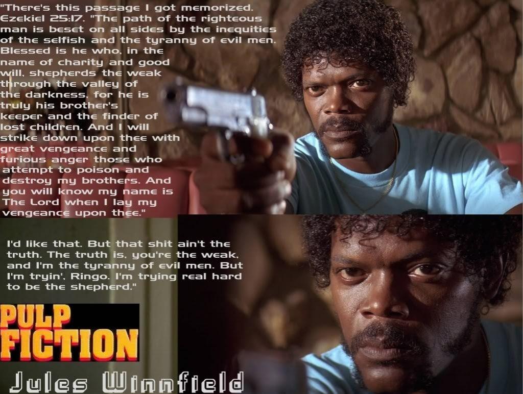 Samuel Jackson Pulp Fiction Quote | Pulp fiction