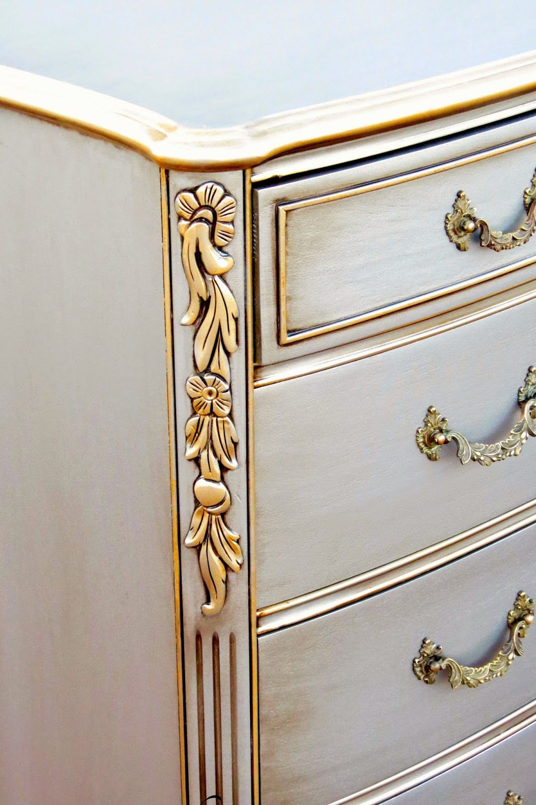 silver painted furniture. Antiqued Silver Dresser Painted Furniture