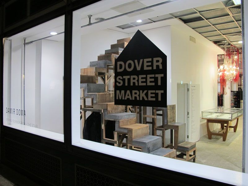 Dover Street Market : 'The Stair' Storefront Window Installation