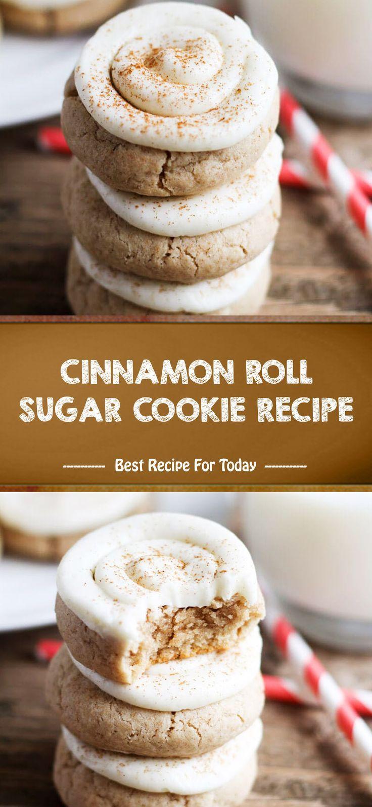 CINNAMON ROLL SUGAR COOKIE RECIPE #cinnamonsugarcookies