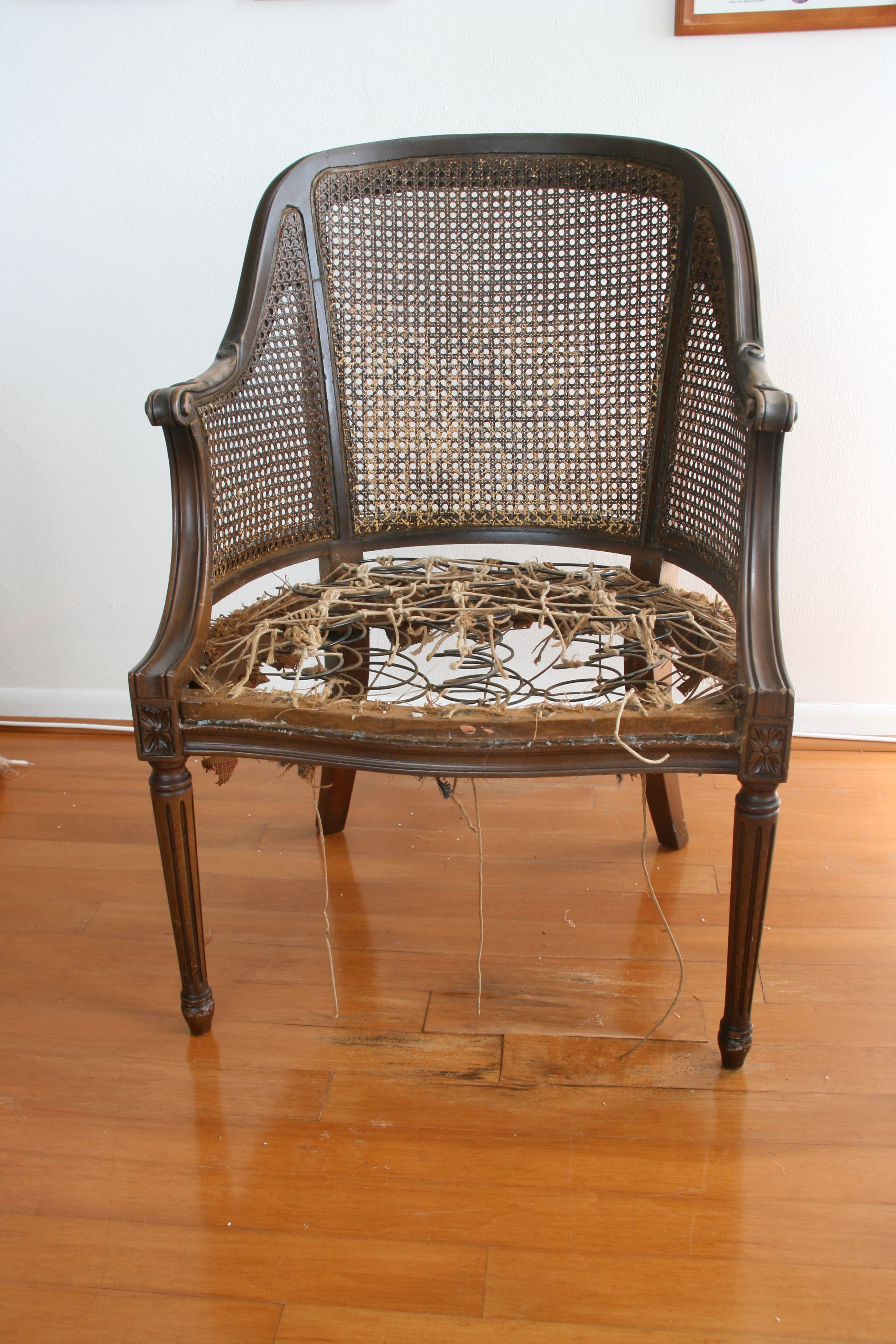 How to Reupholster a Chair  For the Home  Chair Antique