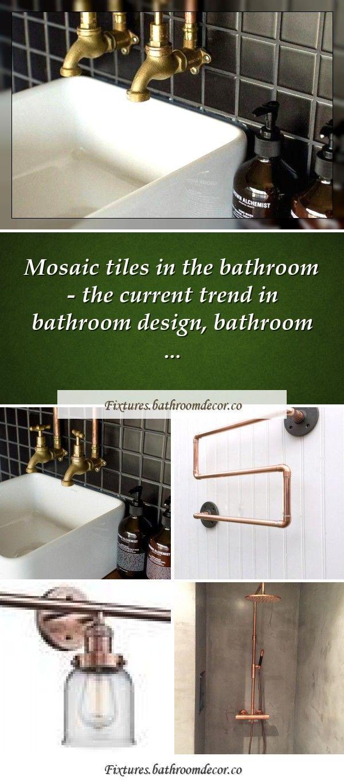 Photo of Towel rail made of copper tubing, industrial towel rail, steampunk design, modern bathroom …