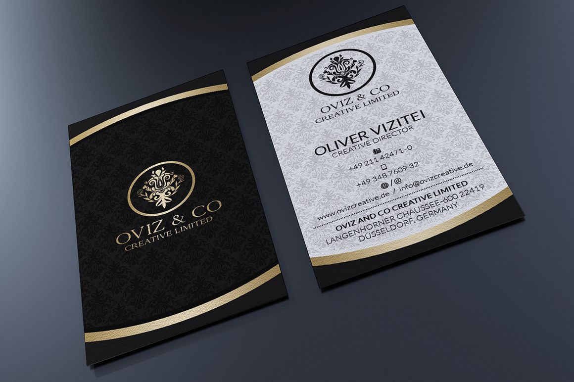 Gold And Black Business Card by Marvel on Creative Market ...