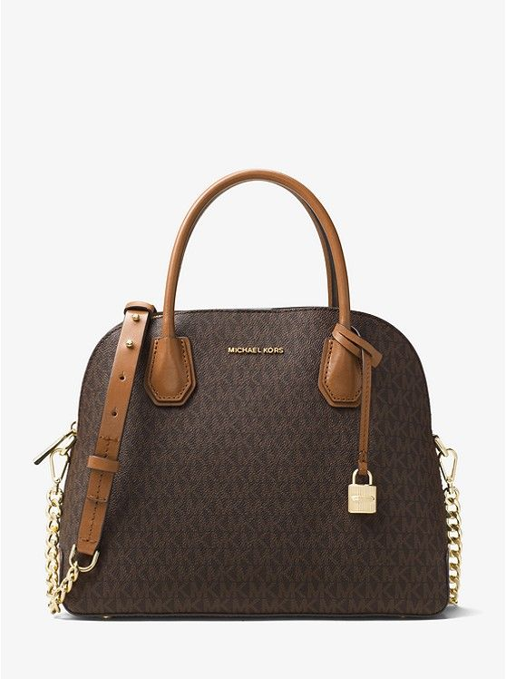 de56baca2bd7 Michael Kors Studio Mercer Large Logo Dome Satchel | Birthday Wishes ...