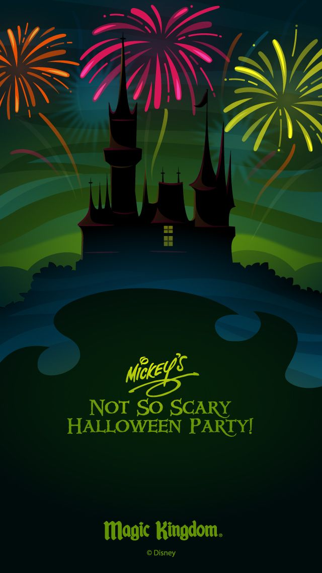 Walt Disney World Halloween cell phone wallpaper