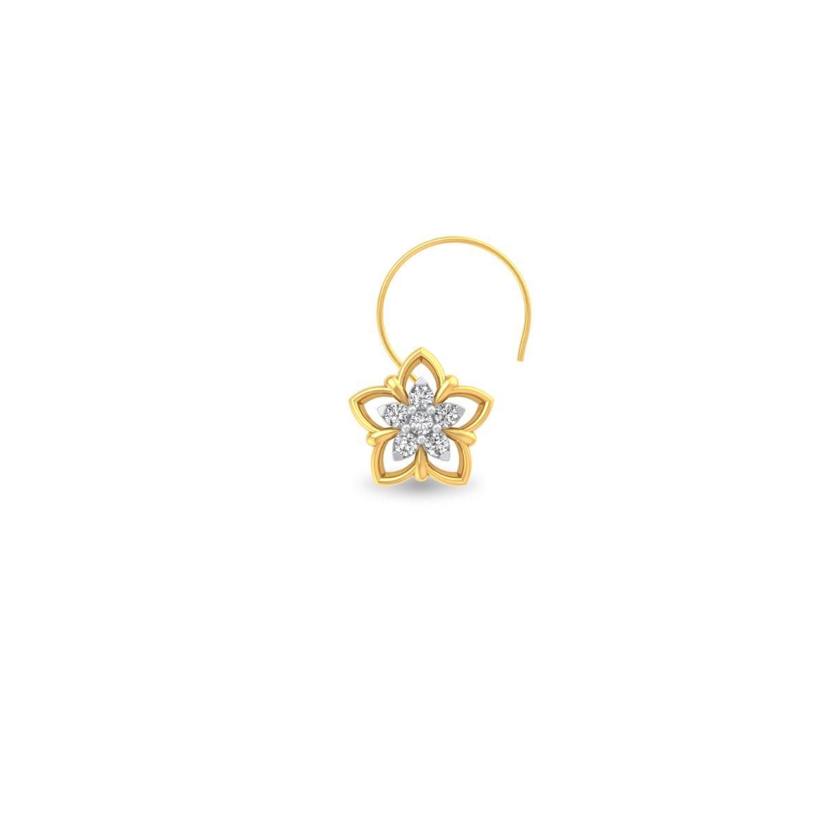 Joyce Diamond Nose Pin Makes Styling With Gold Nose Pin Online Much More Interesting Buy This Nose Pin To Stay Ahead Of Jewelry Online Shopping Jewelry Jewels