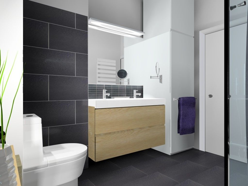 appartement paris salle de bain carrelage leroy merlin. Black Bedroom Furniture Sets. Home Design Ideas