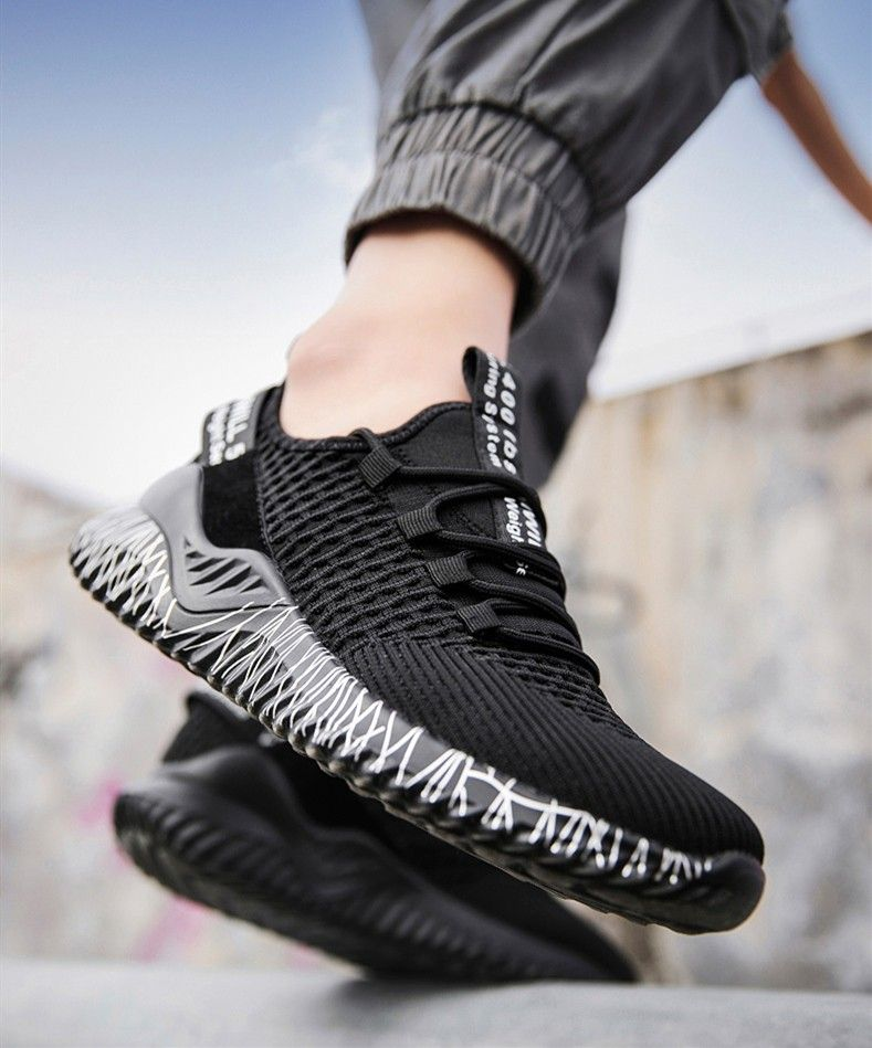 Lovers Breathable Outdoor Running Shoes Casual Shoes is part of Casual running shoes - Outer MaterialFlyknit Inner MaterialFlyknit Sole MaterialRubber ColourBlack,Grey,Pink Closure StyleLaceup StyleSport shoes