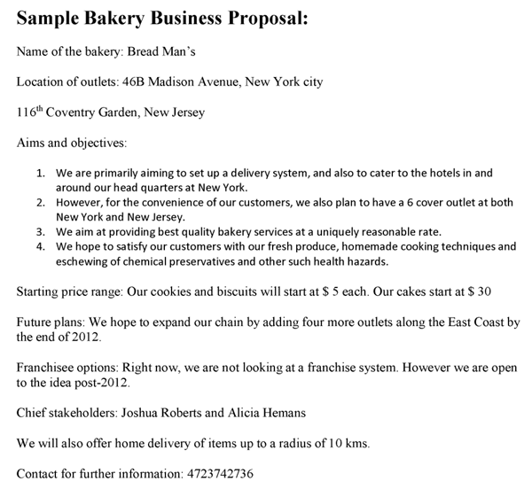Bakery Business Proposal Template