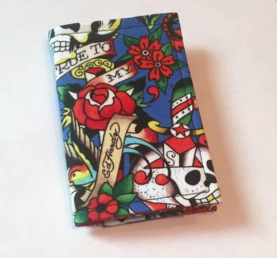 Tattoo Flash wallet Card holder business Card by RedVixenAcc