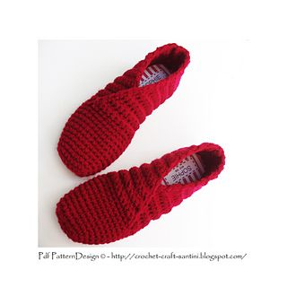 Crochet slipper basic pattern, no buttons ore soles yet! One-piece, toe-up, perfect for the winter-holidays, and a quickly worked present!