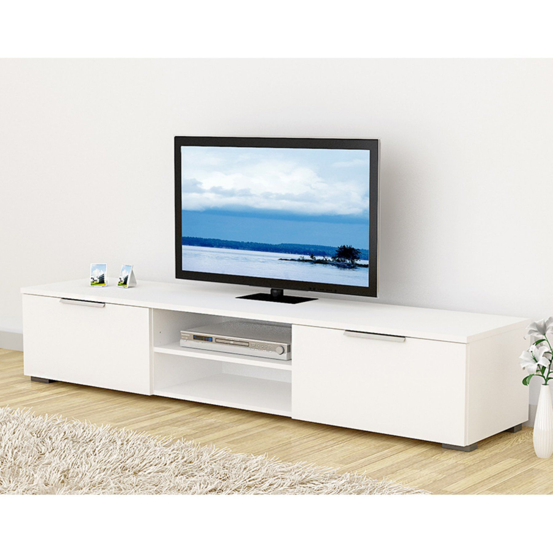 Tvilum Match Tv Stand With Adjustable Shelves White 70189uuuu