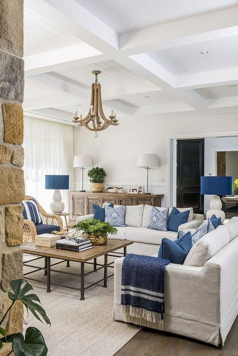 21 Easy Ways To Freshen Up Your Home Atmosphere Around Summer Talkdecor In 2020 White Home Decor Neutral Living Room Coastal Living Rooms