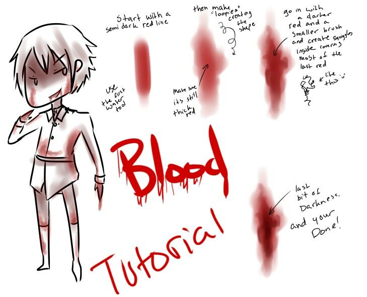 blood tutorial text blood stains how to draw manga