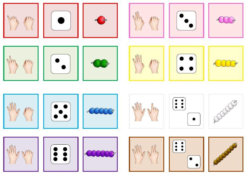krabbelwiese quartett und domino mit den finger bildern zahlen kindergarten math. Black Bedroom Furniture Sets. Home Design Ideas