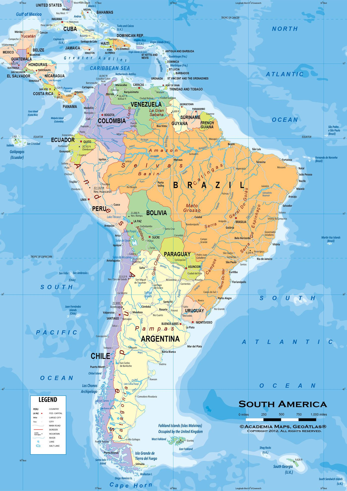 Thrilling Physical Features Of Latin America Map Central America Physical Map Labeled Latin American Countries Latin America Map America Map South America Map