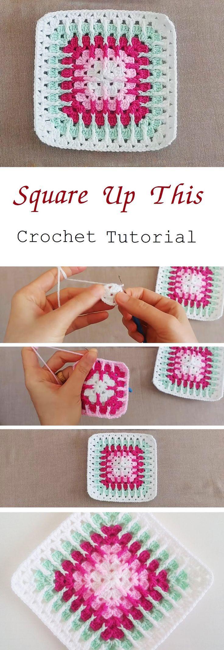 Crochet Square – Easy to Make (Tutorial #grannysquares
