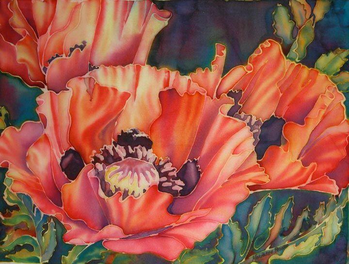 Marianne broome silk painting silk painting pinterest silk explore flower paintings painting flowers and more mightylinksfo