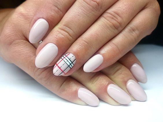 Nails Design Short Nails Stylish Thin Strip Fabric Cage All