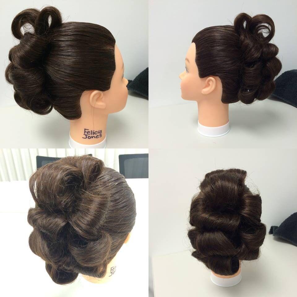 3 ponytail updo; barrel curls | My work - cosmetology | Pinterest ...