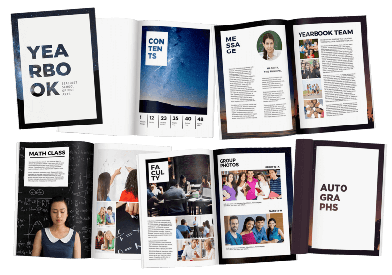 hundreds of free yearbook templates 100 customisable fusion yb
