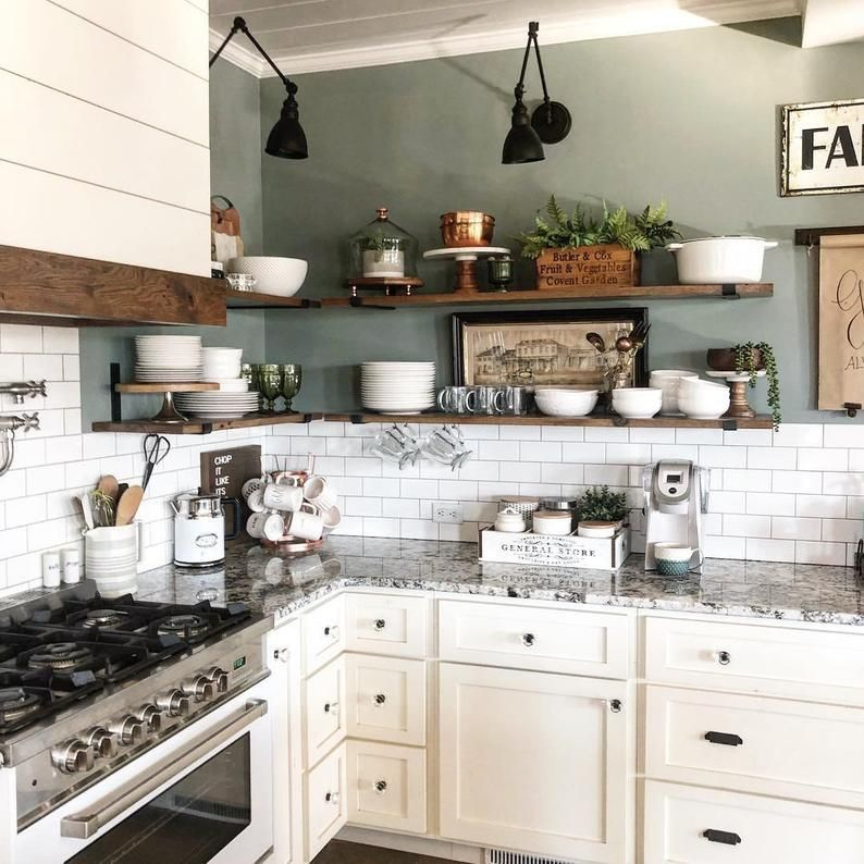 Metal Shelf Brackets - Modern Farmhouse Shelves, H
