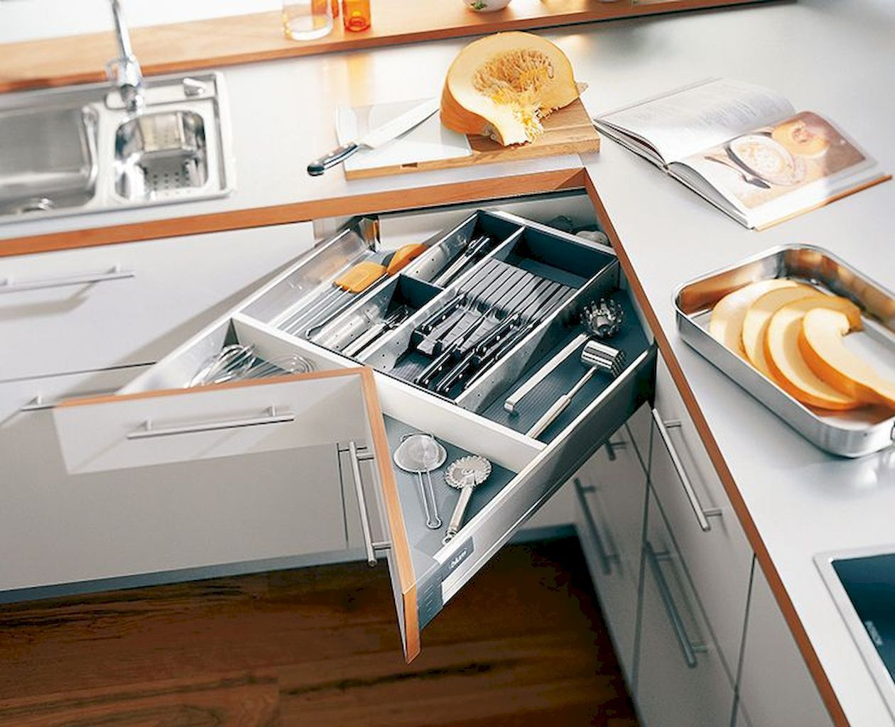 Astonishing Storage Ideas For Small Kitchens That Look Compact And Efficient Elonahome Com Space Saving Kitchen Kitchen Space Savers Kitchen Remodel Small
