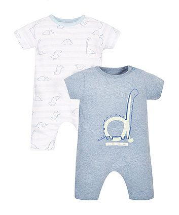 Dinosaur Rompers - 2 Pack | all in ones | Mothercare
