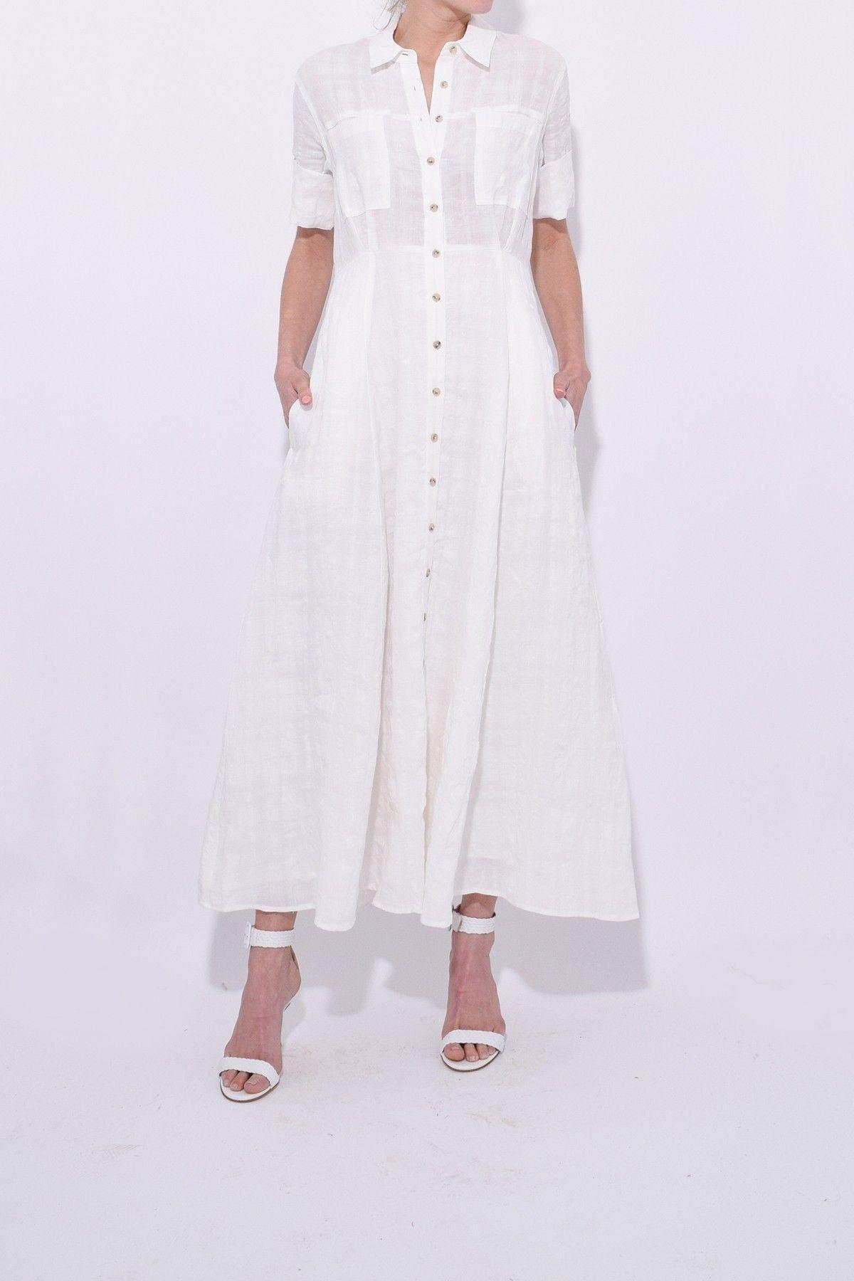 09b0f2449827 Lorelei Dress in White in 2019 | Hampden Dresses | White dress ...