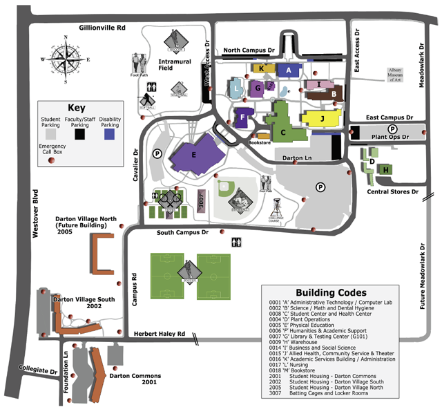Darton State College Visitors Friends Albany Campus Map