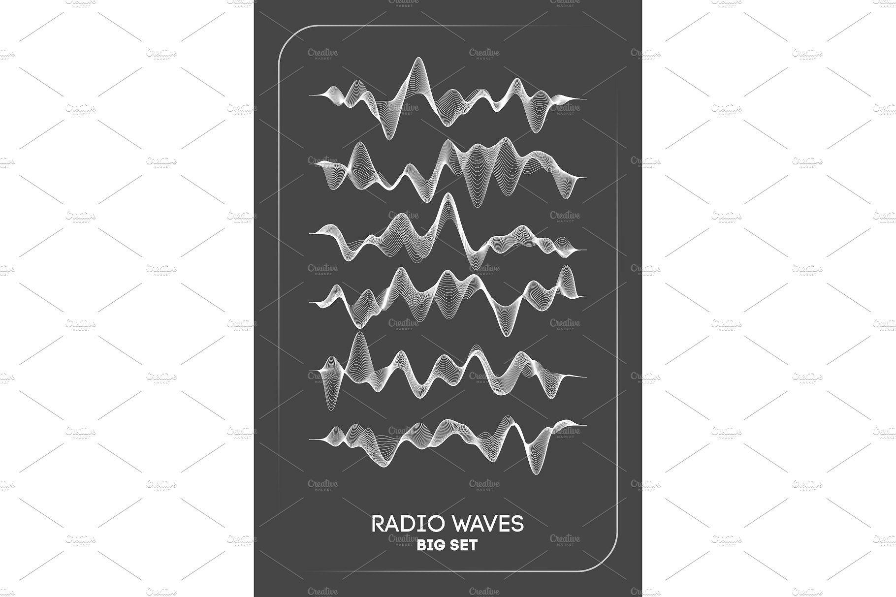 Radio waves vector. Radio frequency identification