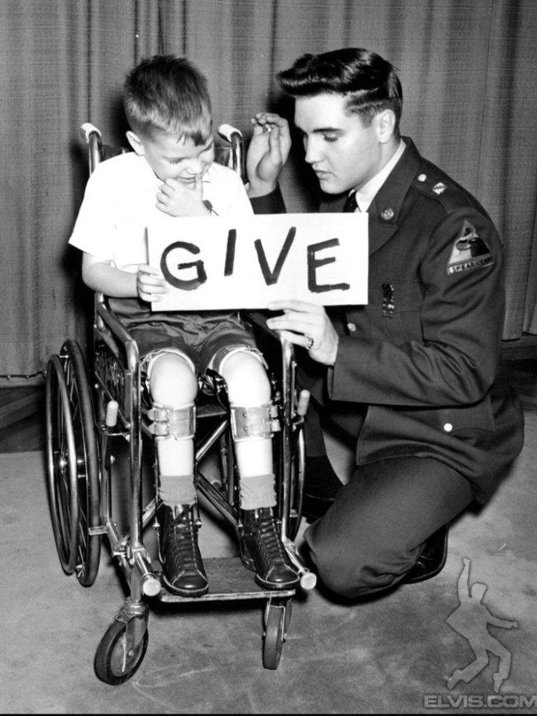 "Elvis - publicity photo shoot for ""March of Dimes"""