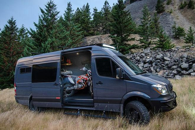 Lava flow 4 4 mercedes sprinter by outside van cars for Mercedes benz van conversion