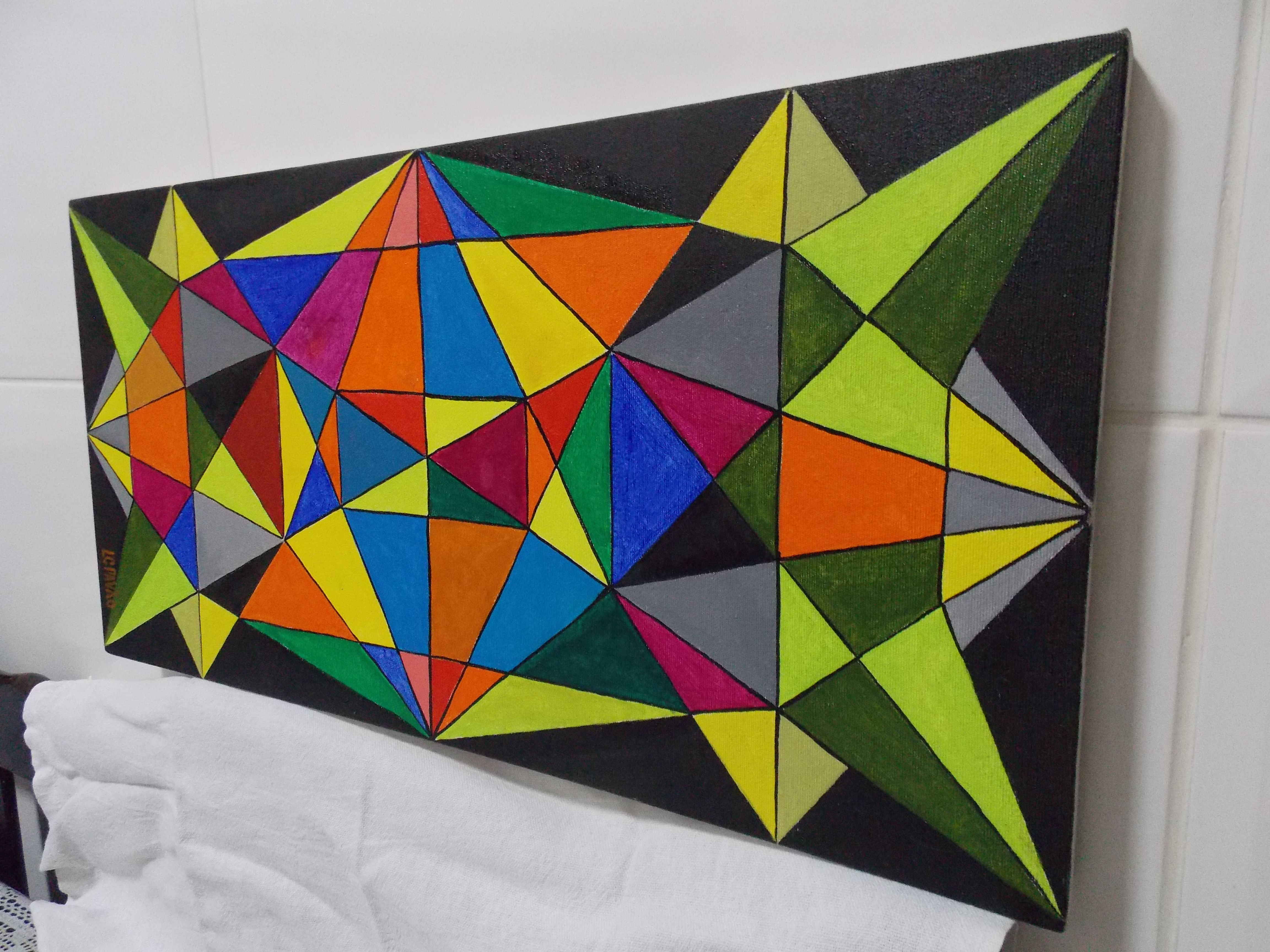 Geometric Painting Frame Pintura Geometrica  Google Search