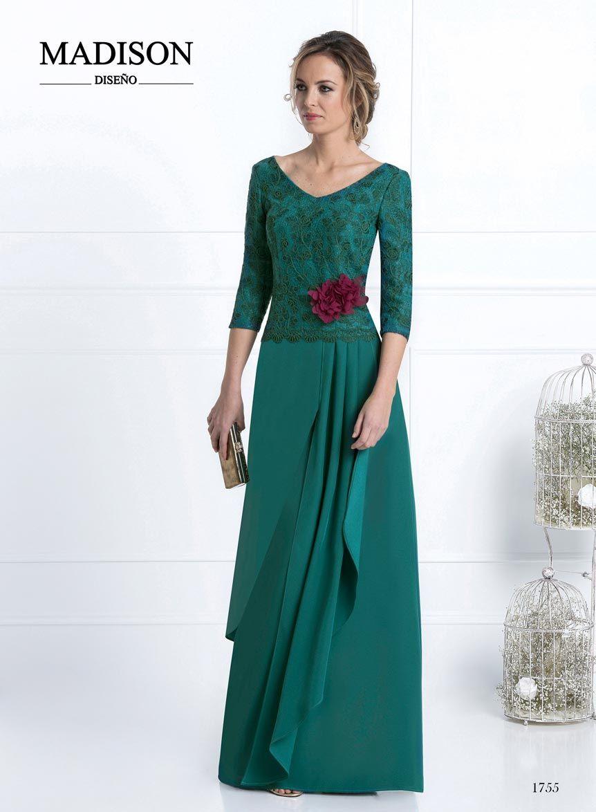 Vestidos largos de fiesta color verde