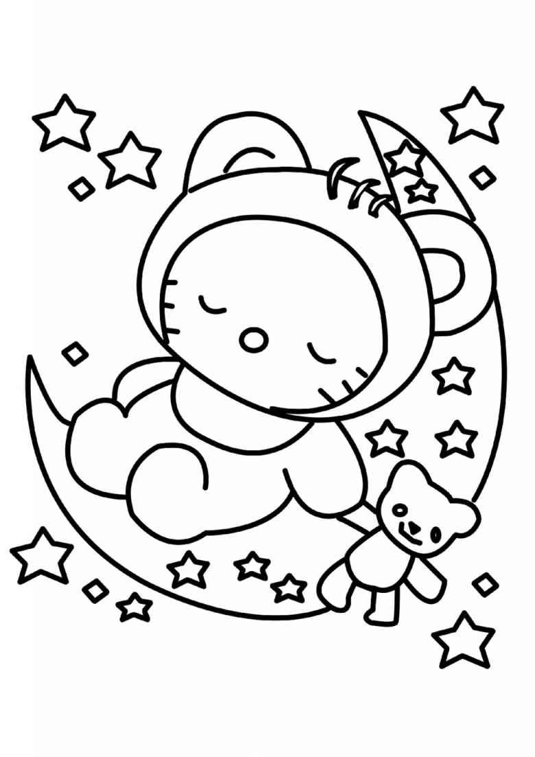 Ausmalbilder Hello Kitty Delfin : Baby Hello Kitty Coloring Pages Free Coloring Pages Download Xsibe