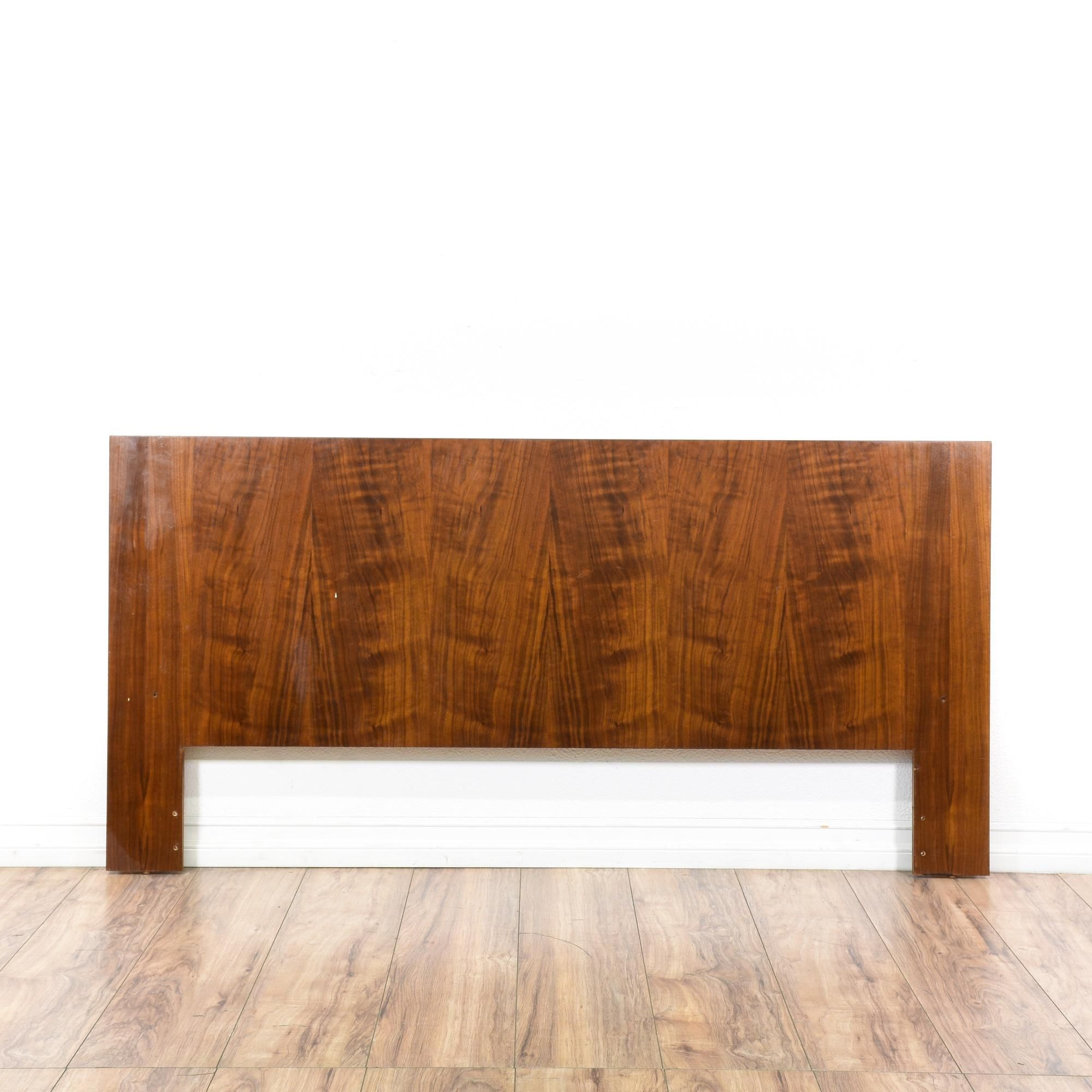 This Danish Modern Headboard Is Featured In A Solid Wood With Gorgeous Glossy Cherry Finish Queen Sized Has Low Profile Top And Simple