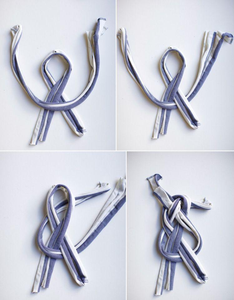 upcycling kleidung ideen t shirts haarband knoten schlaufe selber machen basteln pinterest. Black Bedroom Furniture Sets. Home Design Ideas
