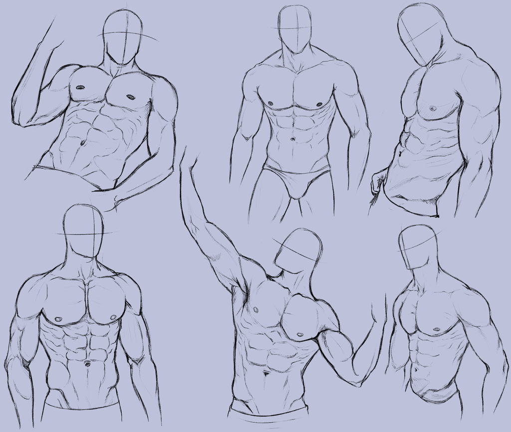 Man Anatomy Practice 2 by KingMaria.deviantart.com on @deviantART ...