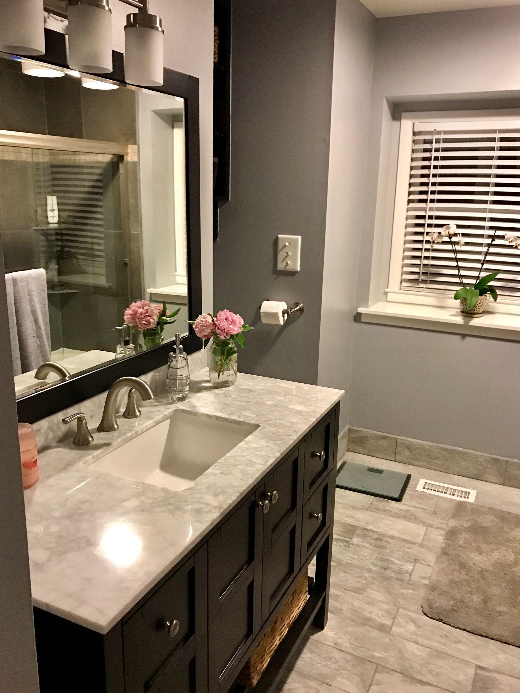 Beau Vanity And Mirror: Wayfair (https://www.wayfair.com/home  Improvement/sb1/bathroom Vanities C527058 P86235~48~55.html?sortbyu003d2)  Floor Tile: Home Depot ...