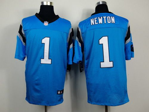 meet ad475 92901 Nike Carolina Panthers #1 Cam Newton Light Blue Elite Jersey ...