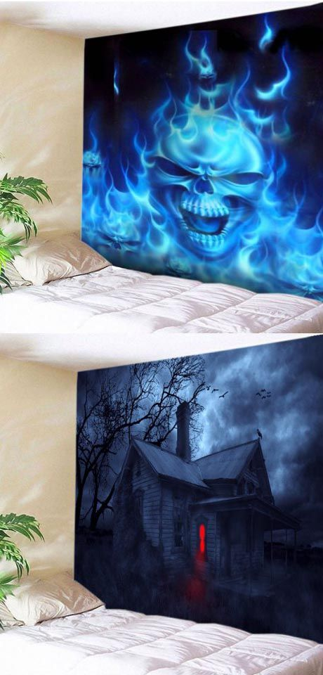 60+ Halloween tapestry Ideas for a Spooky Party Halloween Party - halloween party decorations cheap