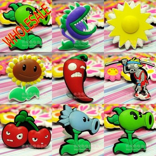 10 Plants vs Zombies Croc Shoe Charms Crocs Jibbitz Wristbands Shoes