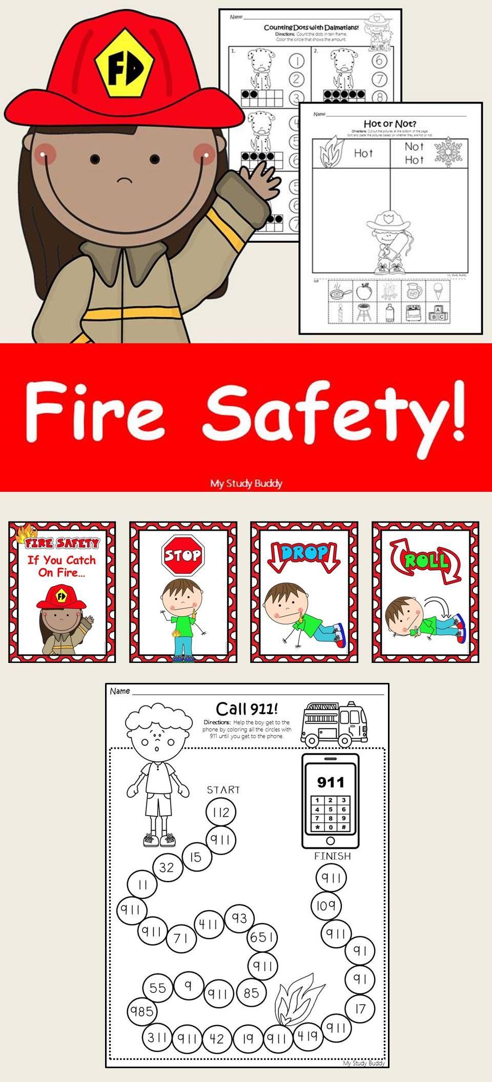 Fire Safety Activities (Kindergarten, Fire Safety Week