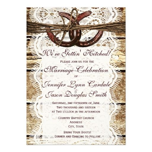 Love This Wedding Invitation The Sample Wording Reads We Re Getting Hitched Please Join Us For Marriage Celebration Of