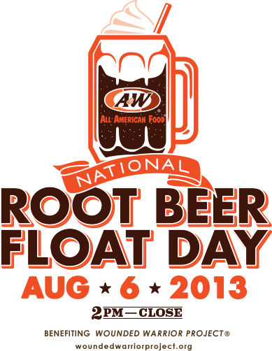 National root beer float day is on August 6, 2013! Get a free root beer float at your local A from 2pm to closing time. #NationalRootBeerFloatDay #rootbeer #rootylove