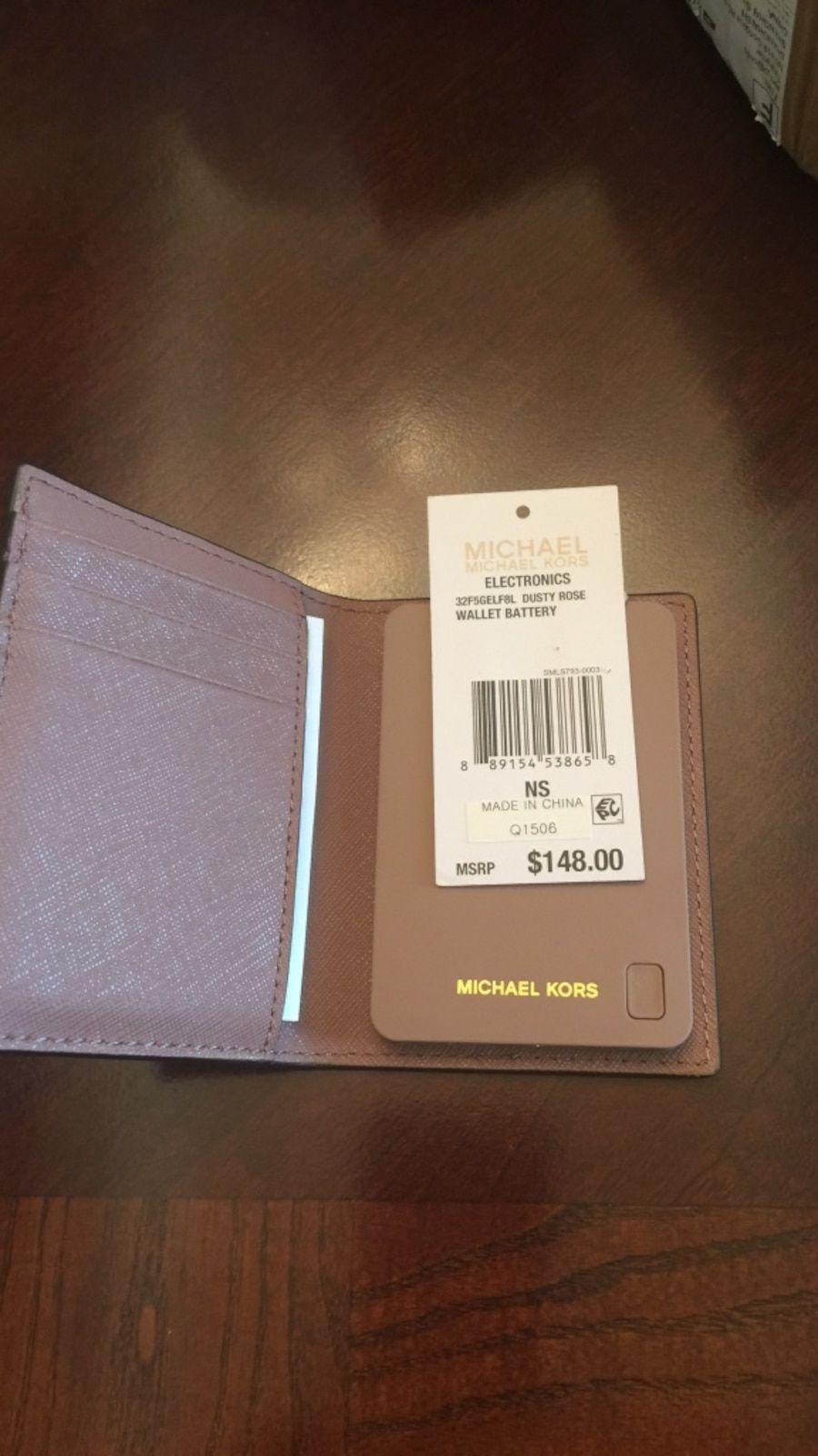 c5d6b848f9fc Michael kors saffiano leather wallet battery blush color in Bossier City -  letgo